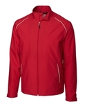 Men's Cutter & Buck WeatherTec Beacon Full Zip Jacket Red Thumbnail