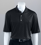 Greg Norman Diamond Embossed Golf Shirt Black Thumbnail
