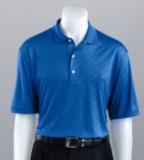 Greg Norman Diamond Embossed Golf Shirt Cobalt Thumbnail