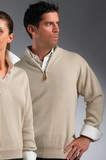 Greg Norman Drop-needle 1/4-zip Mock Sweater Reed Thumbnail