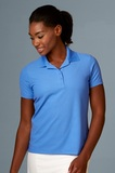 Greg Norman Women's Play Dry Performance Mesh Polo Azure Thumbnail