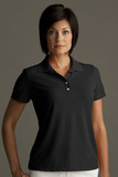Greg Norman Women's Play Dry Performance Mesh Polo Black Thumbnail