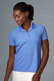 Greg Norman Women's Play Dry Performance Mesh Polo Cobalt Thumbnail