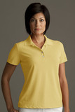 Greg Norman Women's Play Dry Performance Mesh Polo Core Yellow Thumbnail