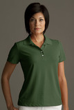 Greg Norman Women's Play Dry Performance Mesh Polo Forest (Forest) Thumbnail
