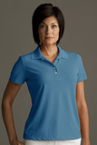 Greg Norman Women's Play Dry Performance Mesh Polo Lagoon Thumbnail