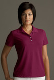 Greg Norman Women's Play Dry Performance Mesh Polo Maroon Thumbnail