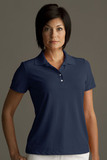 Greg Norman Women's Play Dry Performance Mesh Polo Navy Thumbnail