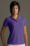 Greg Norman Women's Play Dry Performance Mesh Polo Purple Thumbnail