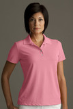Greg Norman Women's Play Dry Performance Mesh Polo Rose Thumbnail