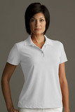 Greg Norman Women's Play Dry Performance Mesh Polo White Thumbnail