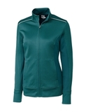 Women's Cutter & Buck Weathertec Ridge Full-Zip Jacket Midnight Green Thumbnail