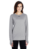 Women's Under Armour Long-Sleeve Locker T-Shirt 2.0 True Gray Heather Thumbnail