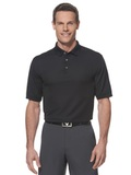 Callaway Ottoman Knit Polo Shirt Black Thumbnail