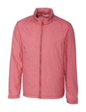 Cutter & Buck Men's Panoramic Packable Wind Jacket Cardinal Red Thumbnail