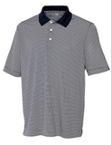 Cutter & Buck Men's DryTec Big & Tall Trevor Stripe Polo Shirt Navy Blue with White Thumbnail