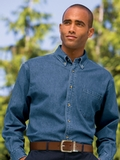 Heavyweight Denim Shirt Dark Blue Stonewashed Thumbnail