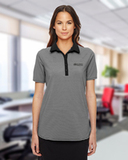 Women's Under Armour Clubhouse Polo Black with True Grey with White Thumbnail