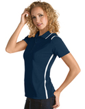 Women's Antigua Merit Desert Dry Polo Navy with White Thumbnail