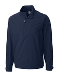 Men's Cutter & Buck WeatherTec Summit Half Zip Navy Blue Thumbnail