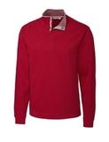 Men's Cutter & Buck Big & Tall Fulltime Pima Snap Placket Overknit Cardinal Red Thumbnail