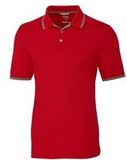 Advantage Tipped Polo Big and Tall Red Thumbnail