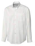 Men's Cutter & Buck Big & Tall Long Sleeve Epic Easy Care Fine Twill White Thumbnail