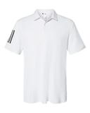 Floating 3-Stripes Sport Shirt White with Black Thumbnail