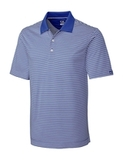 Cutter & Buck Men's DryTec Big & Tall Trevor Stripe Polo Shirt Tour Blue with White Thumbnail