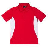 Women's REEBOK ATHLETIC POLO Red with White Thumbnail