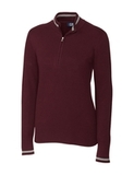 Women's Cutter & Buck Lakemont Half-Zip Bordeaux Thumbnail
