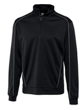 Cutter & Buck Men's DryTec Big & Tall Edge Pullover Black with White Thumbnail