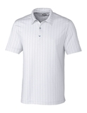 Cutter & Buck Men's DryTec Hamden Jacquard Polo Shirt White Thumbnail