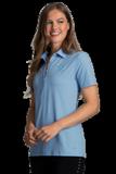 Women's Greg Norman X-Lite 50 Solid Woven Polo Blue Stream Thumbnail