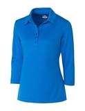 Women's Cutter & Buck DryTec 3/4 Sleeve Chelan Polo Shirt Digital Heather Thumbnail