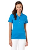 Women's Callaway Opti-vent Knit Polo Shirt Medium Blue Thumbnail
