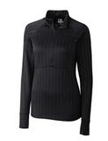 Women's Cutter & Buck DryTec Hamden Jacquard Pullover Black Thumbnail