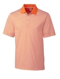 Cutter & Buck Men's DryTec Big & Tall Trevor Stripe Polo Shirt Orange Burst with White Thumbnail