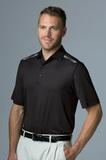 Greg Norman Play Dry Aerated Weatherknit Polo Shirt Black Thumbnail
