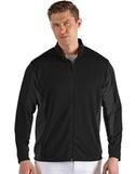 Antigua Men's Passage Full Zip Jacket Black with Smoke Thumbnail