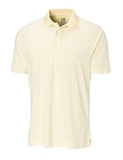 Cutter & Buck Men's DryTec Big & Tall Trevor Stripe Polo Shirt Pale Yellow with White Thumbnail