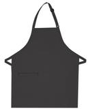 Inset Pocket Bib Apron Charcoal Grey Thumbnail
