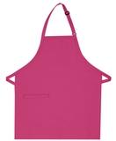 Inset Pocket Bib Apron Hot Pink Thumbnail