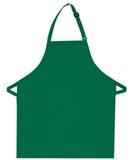 Inset Pocket Bib Apron Kelly Green Thumbnail