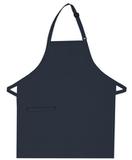 Inset Pocket Bib Apron Navy Thumbnail