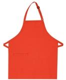 Inset Pocket Bib Apron Orange Thumbnail