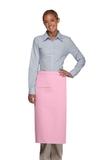 Inset Pocket Bib Apron Pink Thumbnail