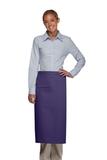 Inset Pocket Bib Apron Purple Thumbnail