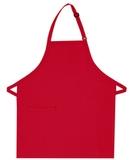 Inset Pocket Bib Apron Red Thumbnail