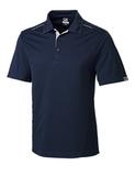 Cutter & Buck Men's DryTec Foss Hybrid Polo Shirt Navy Blue Thumbnail